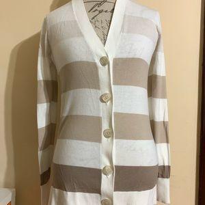 Old Navy Women Sweater Cardigan Creamy/Beige Sz M